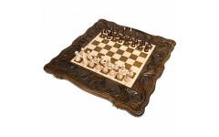 Шахматы + нарды резные Корона 60 Haleyan