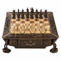 Шахматы резные в ларце Атлант Haleyan