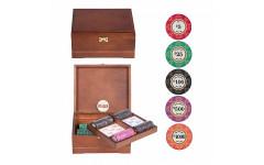 Набор для покера Ceramic VIP на 250 фишек Орех