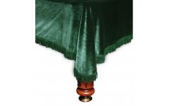 Покрывало Милано 9фт бархат зелёное/зеленая бахрома