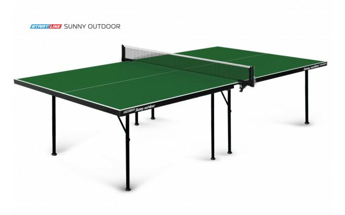 Теннисный стол Start Line Sunny Outdoor green