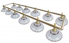 Лампа на двенадцать плафонов