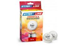 Мячи Start line Standart 2* New (6 шт, бел.)
